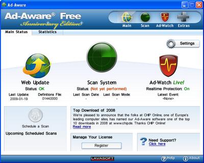 Ad Aware Free Aniversary Edition