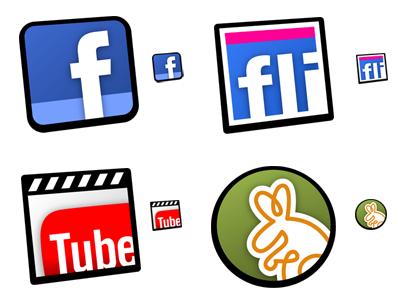 Smoothicons, nuevos iconos de accesos directos a Facebook, YouTube, Twitter…
