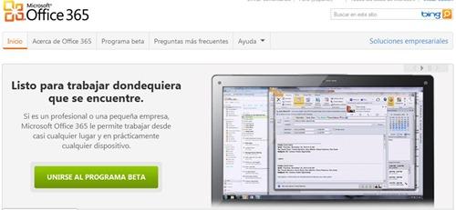 Microsoft Oficce 365 trabajar en cualquier lugar y dispositivo