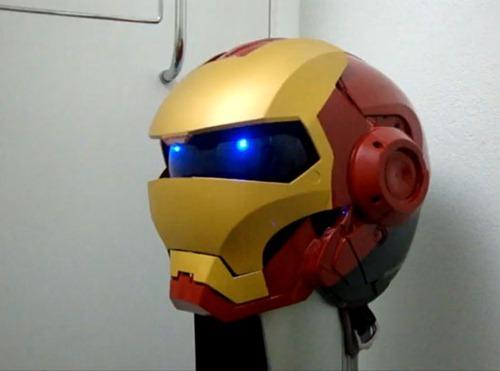 Casco de Iron Man para motociclistas
