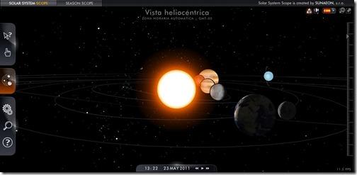 Sistema solar 3d interactivo