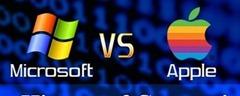 Microsoft vs. Apple Infografía Head