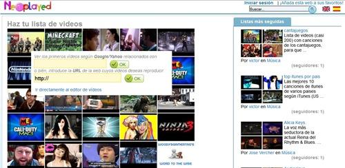 Netplayed listas de reproducción dinámica de videos