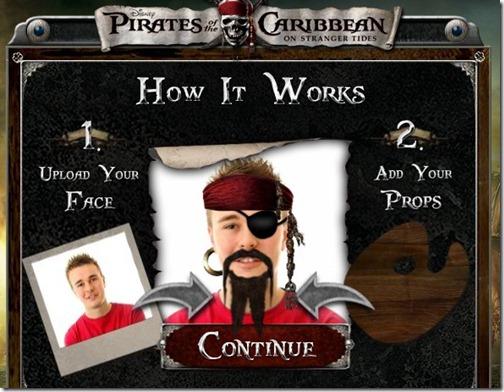 Piratas del caribe app facebook