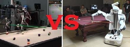 Robots, reto jugar pool