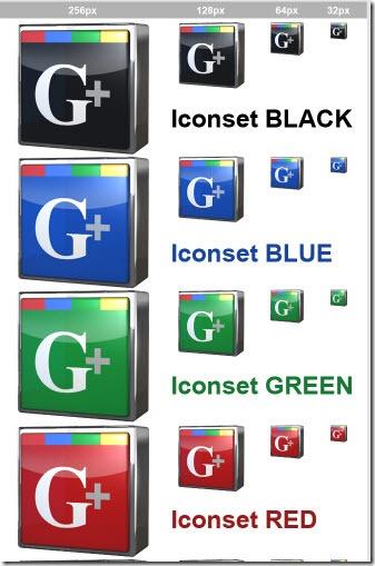 Iconos Google Plus de 3D Media Design