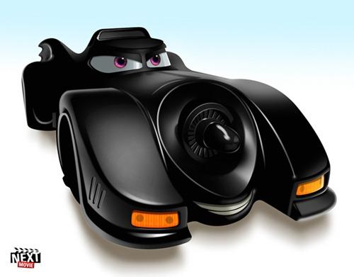 Pixar-Batmobile al estilo Cars