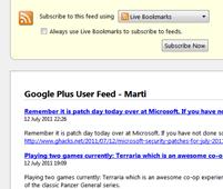 RSS-feed para perfiles Google