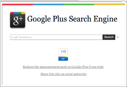 Google Plus Search Engine (Chrome)
