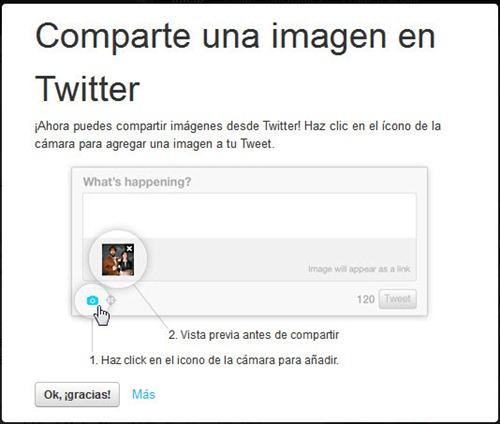Compartir imagenes en twitter