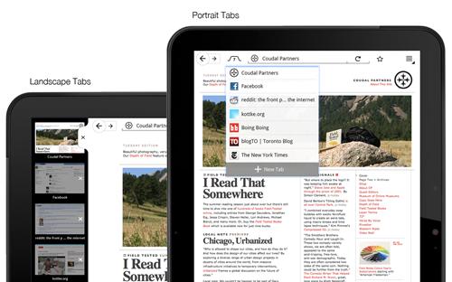 Firefox para tablets 3