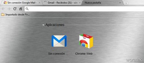 Gmail sin conexion a internet