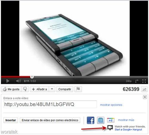 Hangouts con videos de YouTube
