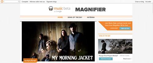 Magnifier para Google music