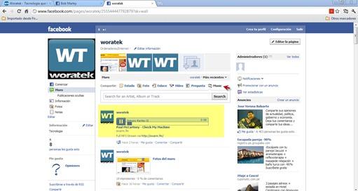 Music musica en Facebook 2