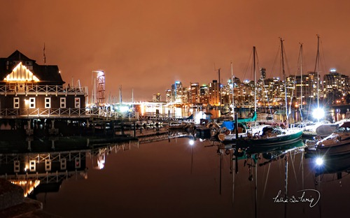 Coal Harbour by Night, Vancouver