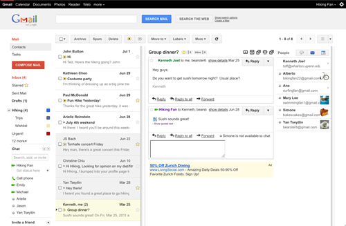 Panel de vista previa de Gmail 5