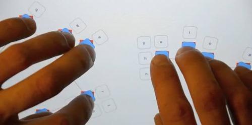 Teclado líquido en el iPad