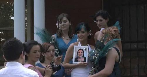 iPad de dama de honor en boda