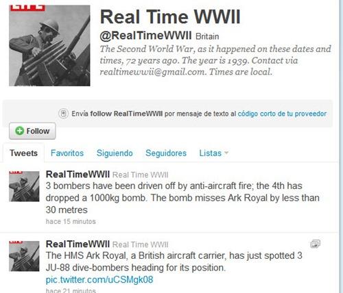 Segunda Guerra Mundial en tiempo real