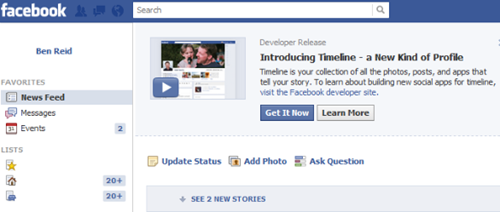 Usar nuevo timeline de Facebook