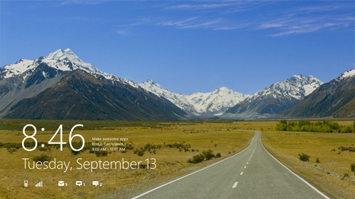 Windows 8 lockScreen