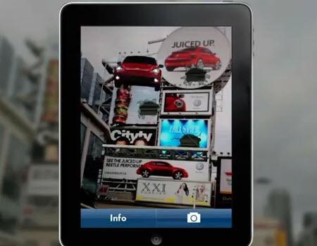 Beetle de Volkswagen, campaña marketing usando realidad aumentada