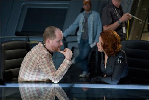 Black Widow con el director Joss Whedon en The Avengers