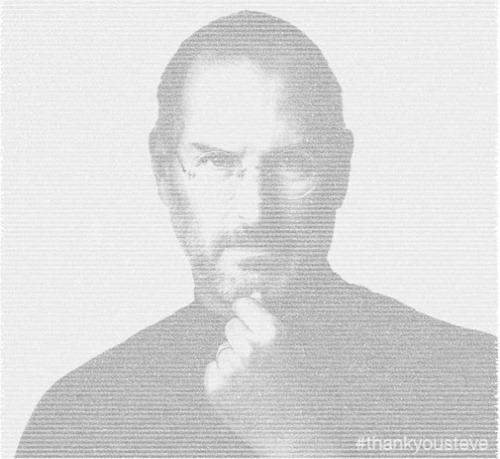 Poster Steve Jobs con tweets