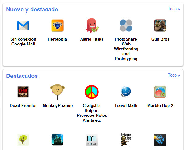 Renovado Chrome Web Store