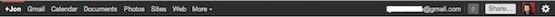 Google bar negra