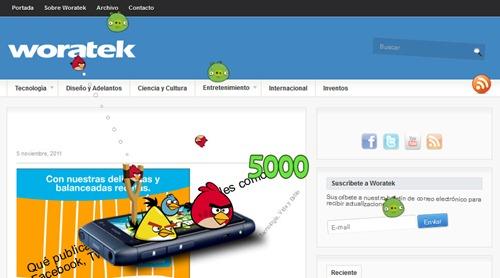 Jugar Angry Birds en páginas web 2