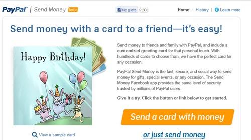 Paypal en Facebook enviar dinero
