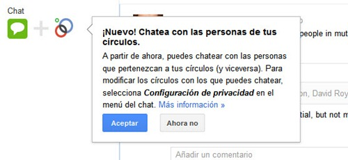 chat en google plus