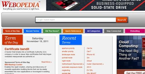 webopedia enciclopedia tecnologia