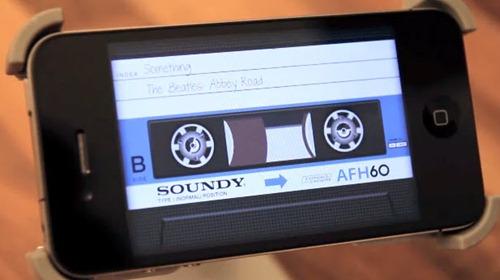 Aircassette, cassette en iPhone