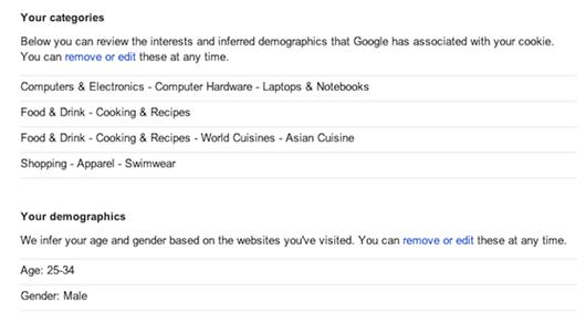 Google demografía y datos