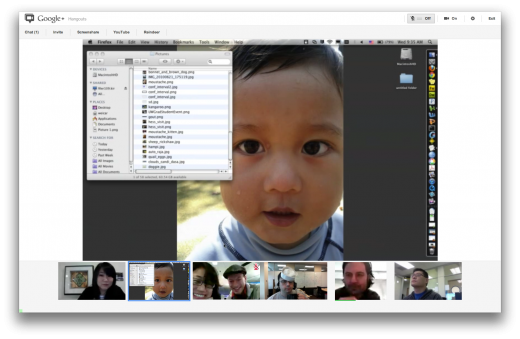 Hangouts con Screensharing 2