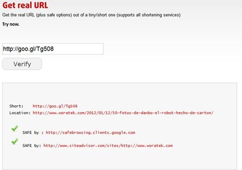 Sucuri alargar URL