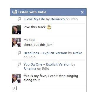 facebook listen with 2