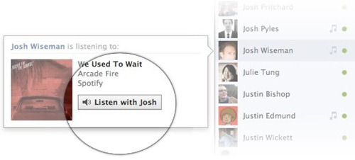 facebook listen with