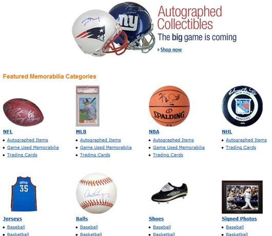 Amazon Sports Collectibles Store