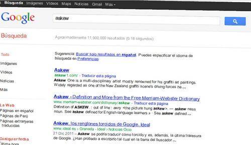 Askew truco google