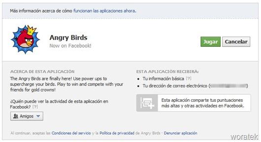 Jugar Angry Birds en Facebook