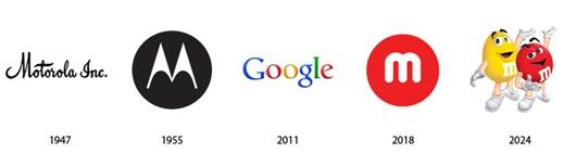 El pasado y futuro de logos famosos, conoce la evolución de logos