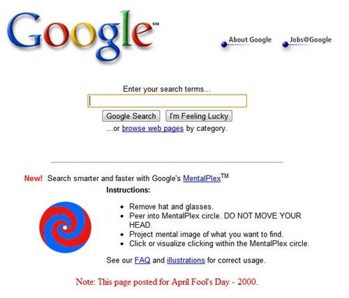 TrucoDía de los inocentes Google