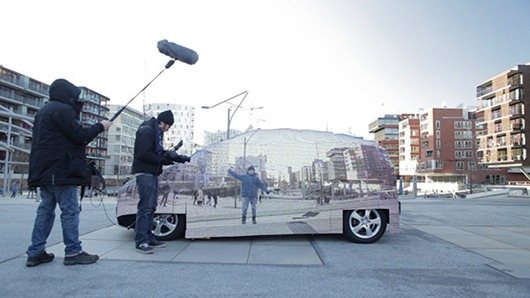 Auto Mercedes Benz invisible 4