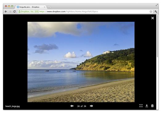Dropbox visor de imágenes