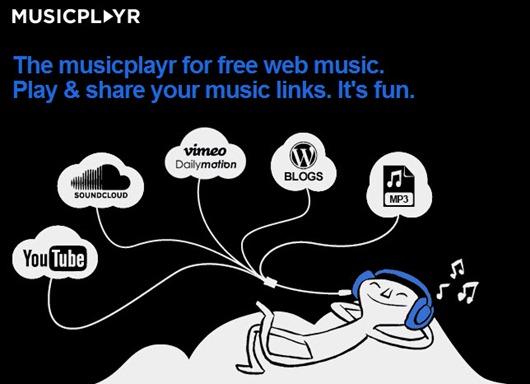Musicplayr recopilar musica desde un Bookmarklet