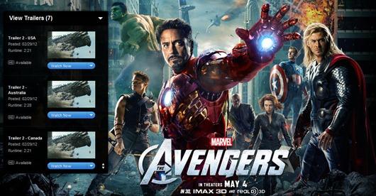 """Nuevo Trailer de """"Los Vengadores"""" en iTunes bate record de visitas"""